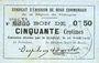 Billets Rimogne (08). Syndicat d'Emission. Billet. 50 centimes 26.4.1917, série T1