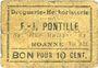Billets Roanne (42). Droguerie F. - J. Pontille. Billet. 10 centimes. Inédit !
