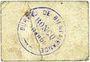 Billets Roncq (59). Bureau de Bienfaisance. Guerre de 1914-1915. Billet. 5 centimes