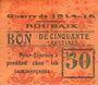 Billets Roubaix (59). Billet. 50 centimes, armoiries (11 mm). Inédit !