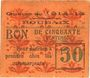 Billets Roubaix (59). Billet. 50 centimes, armoiries (5 mm)