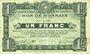 Billets Roubaix et Tourcoing (59). Billet. 1 franc du 20.4.1916, 7e série. N° 1186