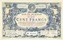 Billets Roubaix et Tourcoing (59). Billet. 100 francs du 27.3.1917, 9e série. N° 6016