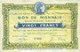 Billets Roubaix et Tourcoing (59). Billet. 20 francs, 4e série. N° 4053