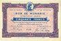 Billets Roubaix et Tourcoing (59). Billet. 50 francs, 5e série. N° 5130