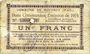 Billets Rouvroy (62). Commune. Billet. 1 franc 7.11.1915