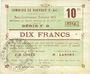 Billets Rouvroy (62). Commune. Billet. 10 francs 16.7.1915, série F2