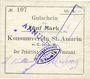 Billets Saint-Amarin. Konsumverein. Billet. 5 mark (22.9.1914). Cachets. : L. Vuillard et E Kühner