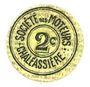Billets Saint-Etienne (42). Chaléassière. Société des Moteurs. Billet. 2 centimes 31.12.1920