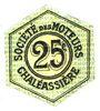 Billets Saint-Etienne (42). Chaléassière. Société des Moteurs. Billet. 25 centimes 31.12.1920