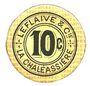 Billets Saint-Etienne (42). La Chaléassière. Le Flaive et Cie. Billet. 10 centimes 31.12.1917