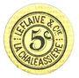 Billets Saint-Etienne (42). La Chaléassière. Le Flaive et Cie. Billet. 5 centimes 31.12.1917