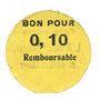 Billets Saint-Genest-Lerpt (42). Coopérative. L'Avenir Social. Billet. 10 centimes