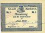 Billets Sainte-Marie-aux-Mines. Ville. Billet. 2 mark (7.8.1914). Bleu foncé. M. Dreyfuss et Kniebühler. Cac