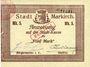 Billets Sainte-Marie-aux-Mines. Ville. Billet. 5 mark (7.8.1914). J. Frey et Paul Lacour. Cachet 31 mm