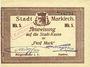 Billets Sainte-Marie-aux-Mines. Ville. Billet 5 mark (7.8.1914) M. Dreyfuss et Kayser. Sans cachet commune