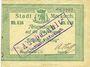 Billets Sainte-Marie-aux-Mines. Ville. Billet. 50 pfennig (7.8.1914). M. Dreyfuss et A. Hoff. Cachet 36 mm