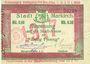 Billets Sainte-Marie-aux-Mines. Ville. Billet. 50 pfennig surchargé le 15.3.1917. M. Dreyfuss et A. Sigwald