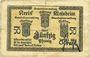 Billets Schirmeck. Ville. Billet. 50 pfennig 7.1918. Petit cachet communal