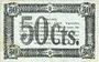 Billets Thiaucourt et St Mihiel (54). Syndicat de la Woëvre. Billet. 50 centimes 2.8.1916, série VIII