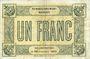 Billets Trouville (14). Syndicat Général des Commerçants et Industriels. Billet. 1 franc