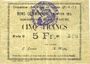 Billets Vitry-en-Artois (62). Commune. Billet. 5 francs 13.4.1915, série C