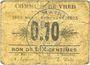 Billets Vred (59). Commune. 10 centimes 1915
