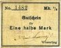 Billets Wesserling. Cros Roman & Cie. Billet. ½ mark. Annulé