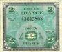 Billets Billet. 2 francs, Drapeau, type américain, 1944, sans n° série
