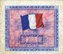 Billets Billet. 2 francs. Drapeau, type américain, 1944, série 2