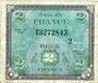 Billets Billet. 2 francs, Drapeau, type américain, 1944, série 2