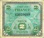 Billets Billet. 2 francs, Drapeau, type américain, 1944