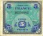 Billets Billet. 5 francs, Drapeau, type américain, 1944, sans n° série