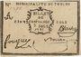 Billets Toulon. Billet de confiance de 5 sols 1791
