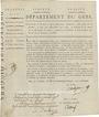 Billets Bon au porteur. 25 francs. 26 prairial an VIII. Département du Gers. R !