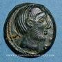 Monnaies Carnutes. Région de Chartres - Pixtilos. Bronze à la déesse assise, classe V, vers 40-30 av. J-C