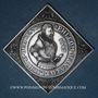 Coins Alsace. 4e centenaire de l'atelier de Woerth. 1987. Médaille argent. 46,35 x 46,35 mm