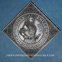 Coins Alsace. 4e centenaire de l'atelier de Woerth. 1987. Médaille étain. 46,35 x 46,35 mm.