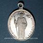 Coins Alsace. Altkirch. Eglise Saint Morand. Médaille aluminium. Ovale. 19,92 x 27,91 mm