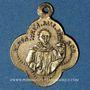 Coins Alsace. Altkirch. Eglise Saint Morand. Médaille laiton. 16 x 19,8 mm. Quadrilobée avec anneau