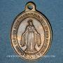 Coins Alsace. Altkirch. Eglise Saint Morand. Médaille laiton. Ovale. 19,41 x 26,96 mm