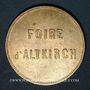 Coins Alsace. Altkirch. Jeton pour la foire. (19e siècle). Laiton. 28 mm