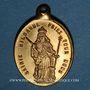 Coins Alsace. Andlau. Souvenir de Notre Dame de la crypte d'Andlau. (début 19e siècle). Médaille laiton