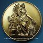 Coins Alsace. Bas-Rhin. Association de jardinage. Médaille bronze doré. 50,7 mm. Gravée par Pingret