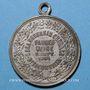 Coins Alsace. Bitschwiller-les-Thann. Chorale. Bénédiction du drapeau. 1901. Médaille laiton argenté
