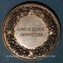 Coins Alsace. Brumath. Exposition arboricole. 1883. Médaille argent bronzé