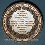 Coins Alsace. Colmar. Armand Joseph Bruat. 1864. Médaille bonze.67,77 mm. Gravée par A. Borrel
