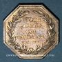 Coins Alsace. Colmar. Conseil Municipal de 1821. Jeton octogonal en argent. Gravé par Oblin F