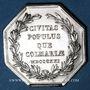 Coins Alsace. Colmar. Conseil Municipal de 1821. Jeton octogonal en argent, gravé par Oblin F