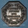 Coins Alsace. Colmar. Conseil Municipal de 1821. Jeton octogonal en argent. Var. signature à l'exergue